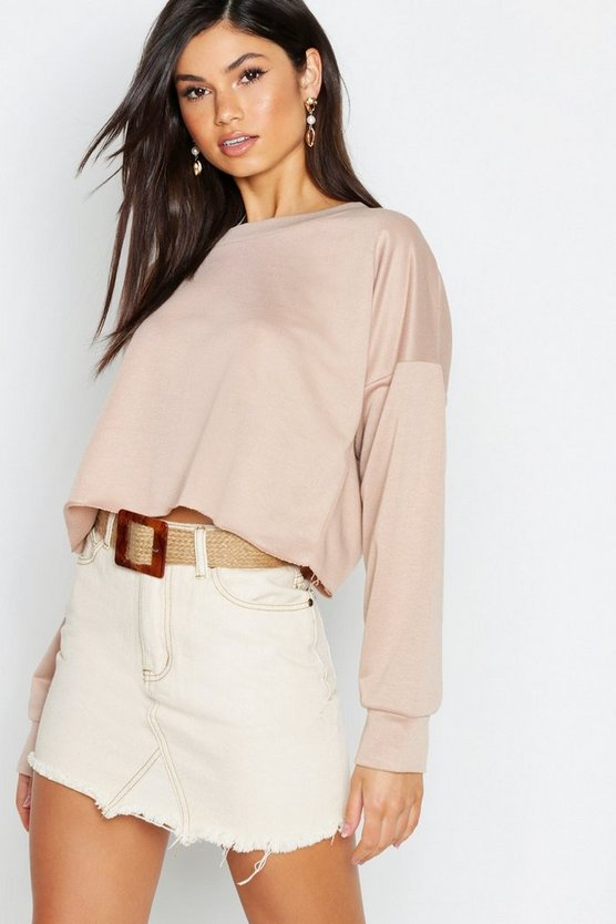Soph Raw Hem Oversized Boxy Sweat