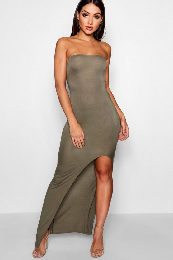 Cath Bandeau Maxi Dress With Split