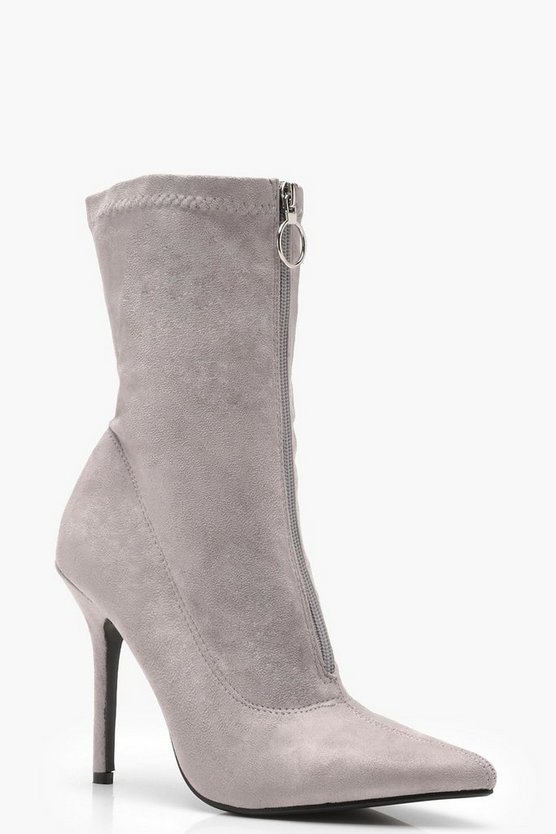 Megan Zip Front Pointed Shoeboot