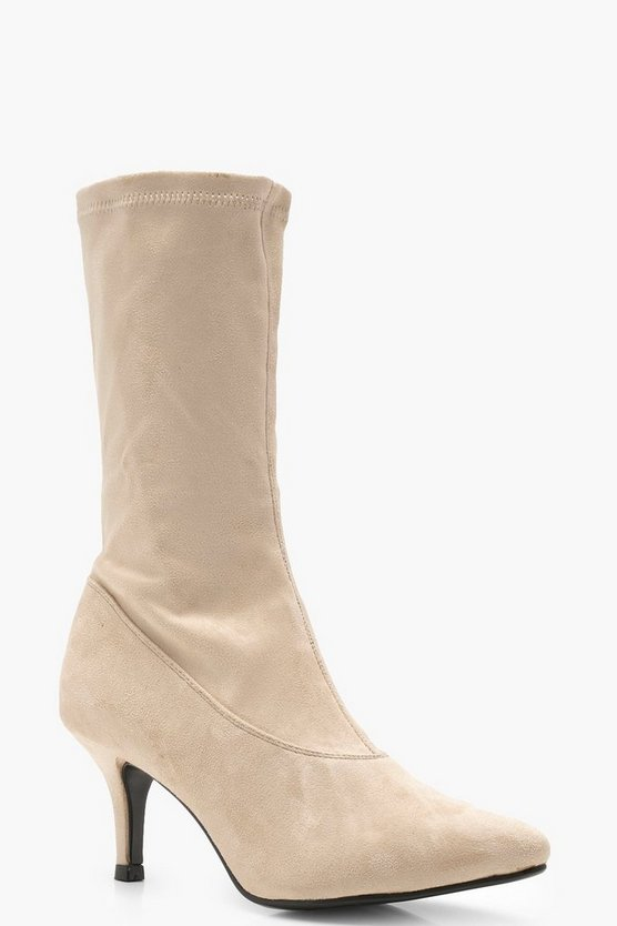 Sophie Low Heel Pointed Sock Boots