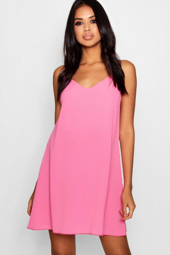 Pia Plunge Front Woven Cami Dress