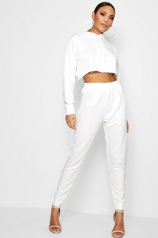 Bella Athleisure Crop Loop Back Tracksuit
