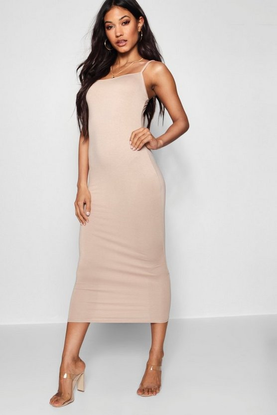 Jersey Square Neck Midaxi Dress