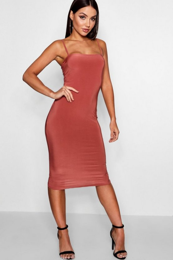 Natalia Square Neck Midi Dress