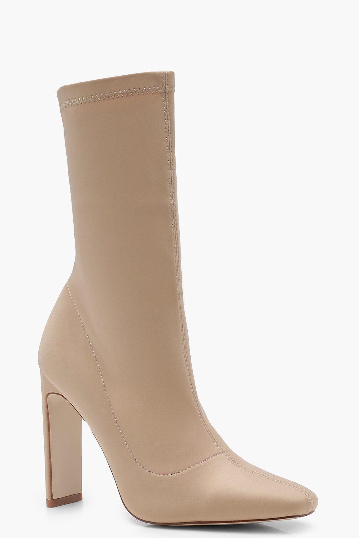 Купить Boots, Узкие прямые сапоги чулки на каблуке, boohoo