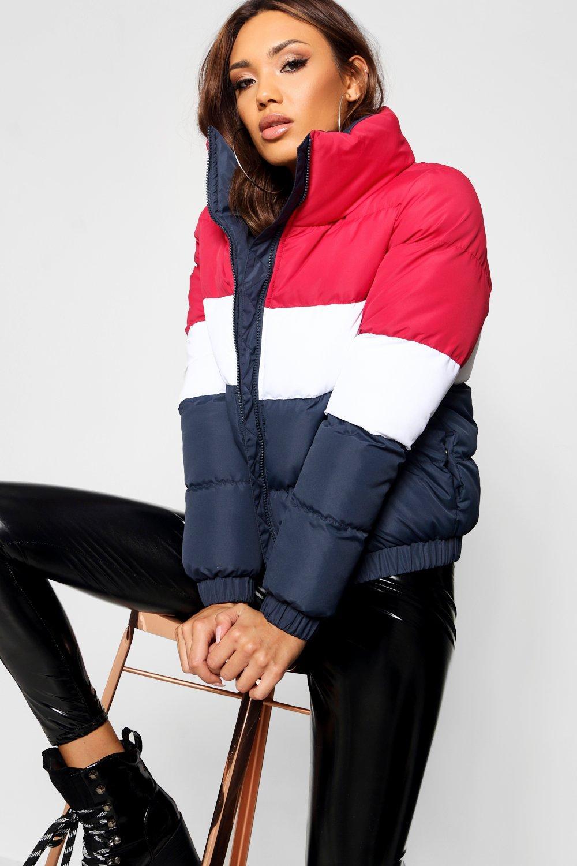Купить Coats & Jackets, Куртка с мягкой подкладкой с цветными вставками, boohoo