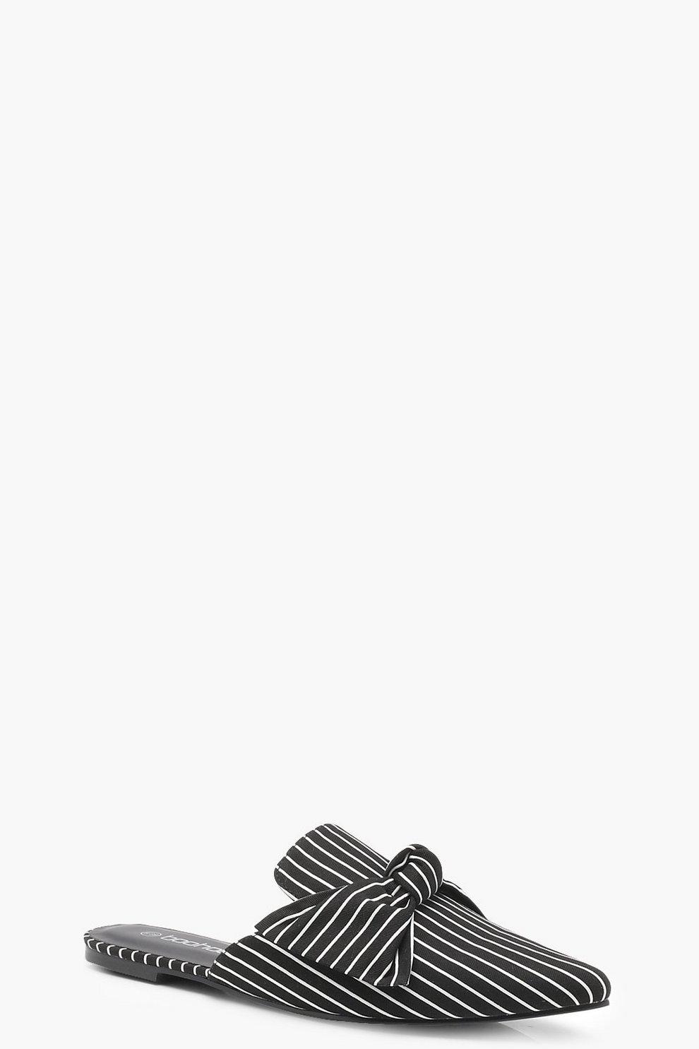 Con El Envío Libre Paypal Mule a punta con righine sottili e fiocco davanti Precio Barato Al Por Mayor En Línea 100% Original Imágenes En Línea HIW3Q