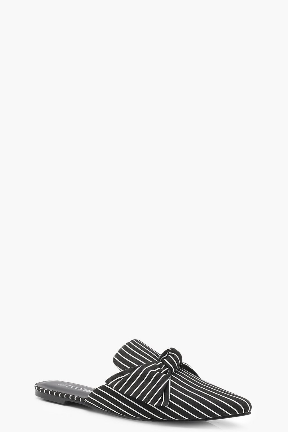 Mule a punta con righine sottili e fiocco davanti Comprar Barato Últimas Colecciones PiNRey