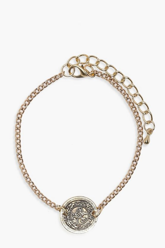 Lily Coin Chain Bracelet