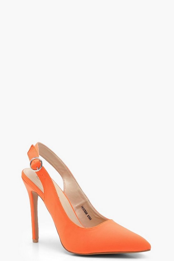Bella Sling Back Pointed Court Heels