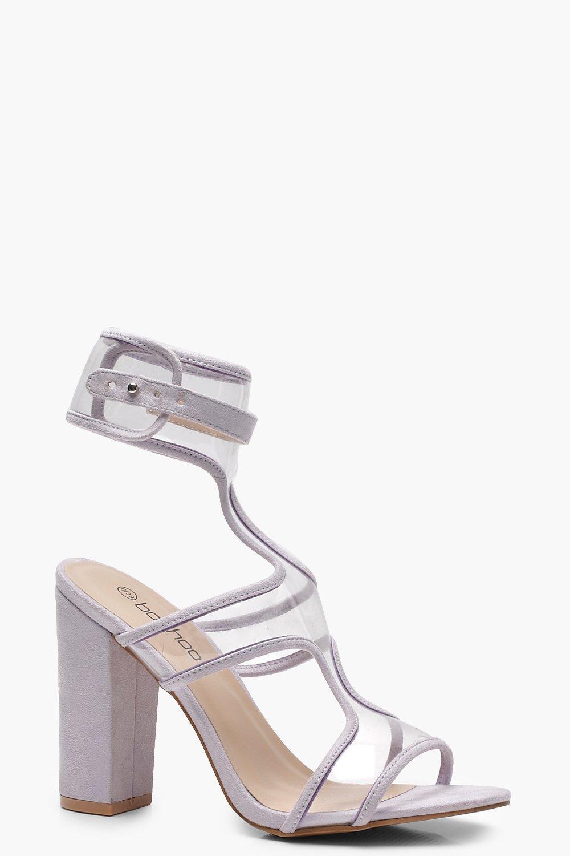 Купить Heels, Сандалии с прозрачными ремешками, boohoo
