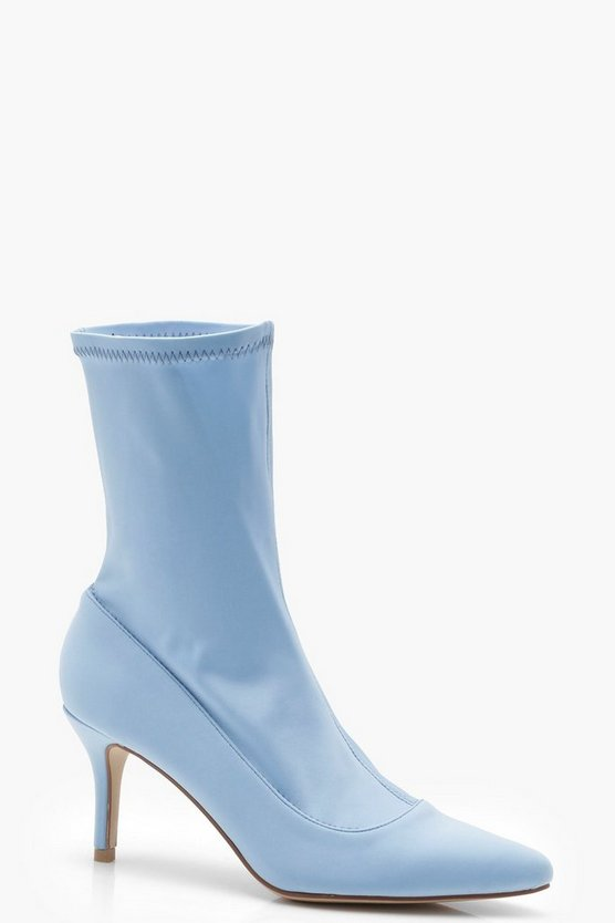 Kerry Pointed Toe Low Heel Sock Boots