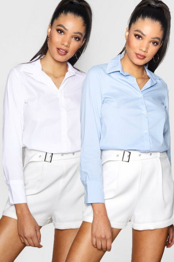 Louise Two Pack Fitted Cotton Shirt