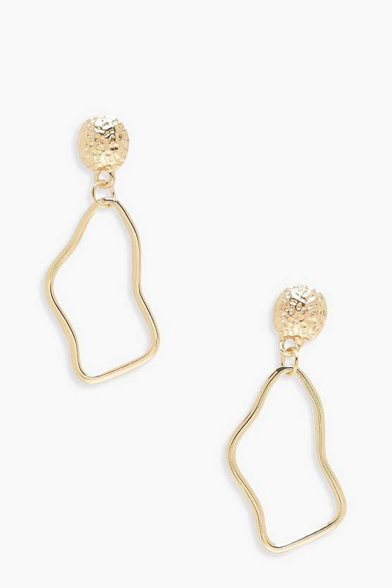 Julia Abstract Hoop Earrings