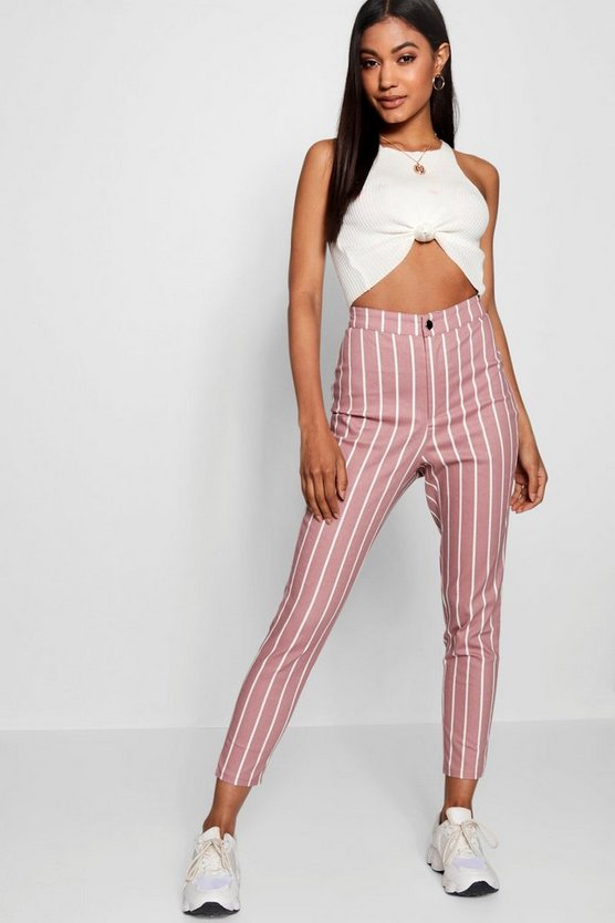Dea High Rise Stripe Skinny Jeans