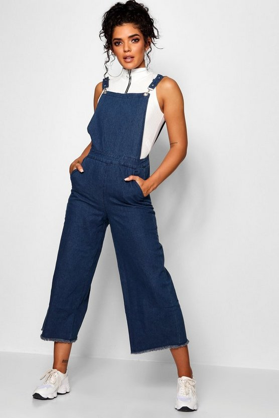 Eyelet Detail Denim Dungarees