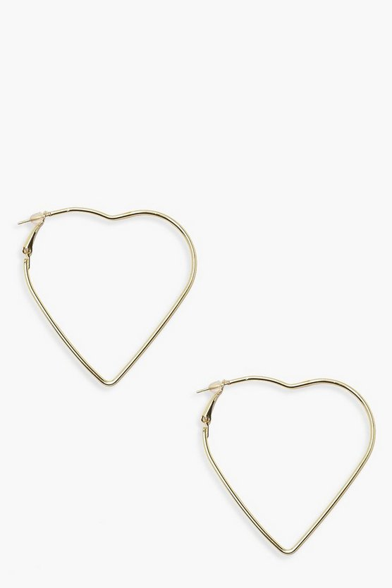 Katy Coated Heart Hoop Earrings