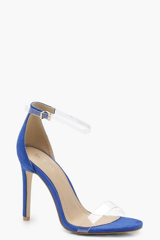 Olivia Clear Band 2 Part Heels