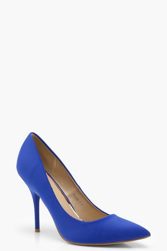 Pointed Toe Mid Heel Courts