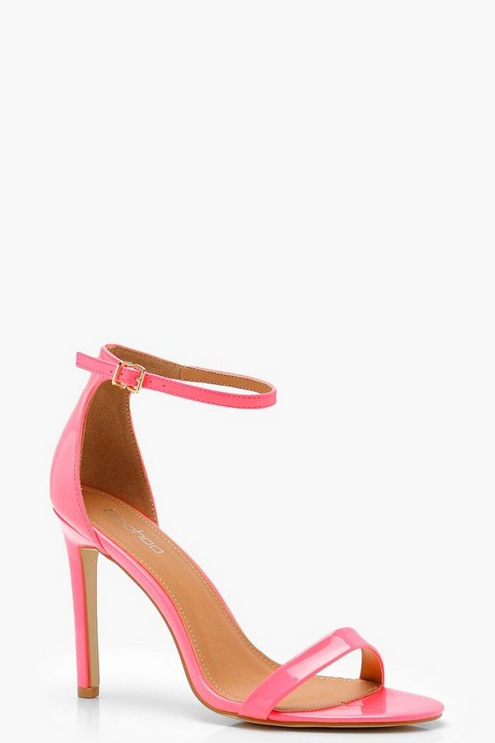 Amy Neon Patent 2 Parts Heels by Boohoo