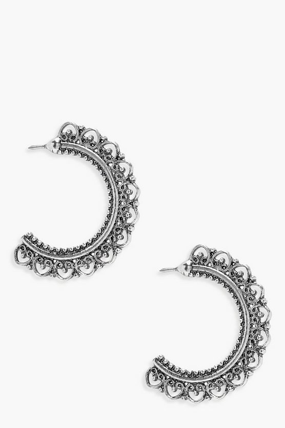 Jenny Intricate Boho Hoop Earrings