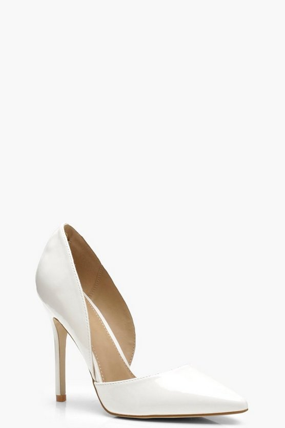Pointed Cut Side Court Heels