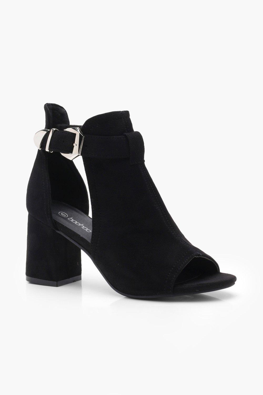 Купить Boots, Ботинки-туфли с пряжками, boohoo