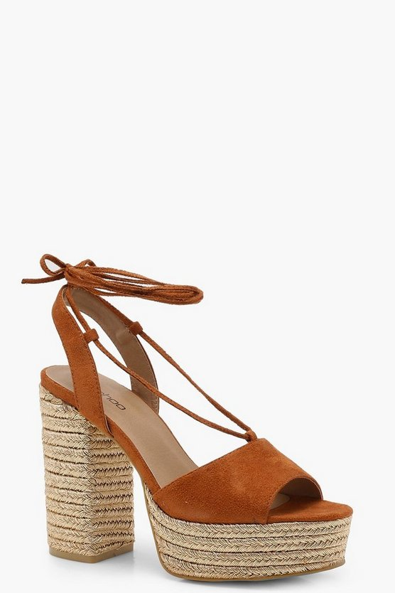Espadrille Wrap Up Platforms