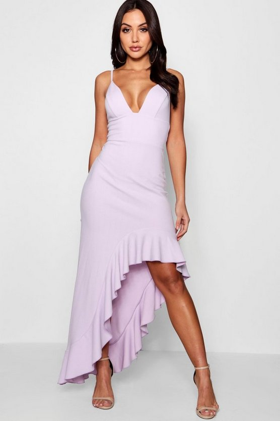 Boutique Strappy Frill Detail Maxi Dress
