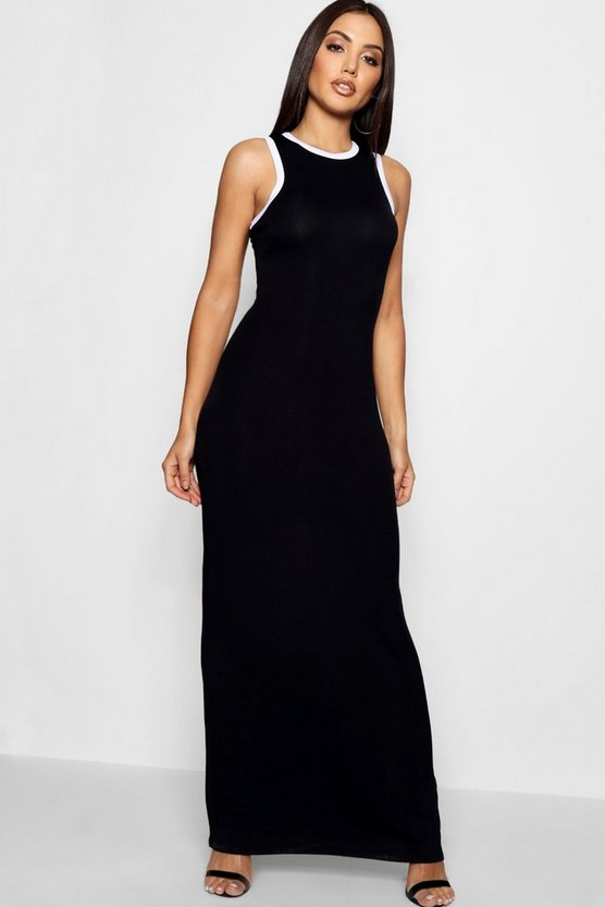 Kamillia Racer Front Maxi Dress