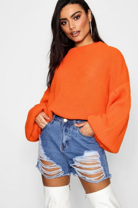 Charlotte Oversized Balloon Sleeve Jumper