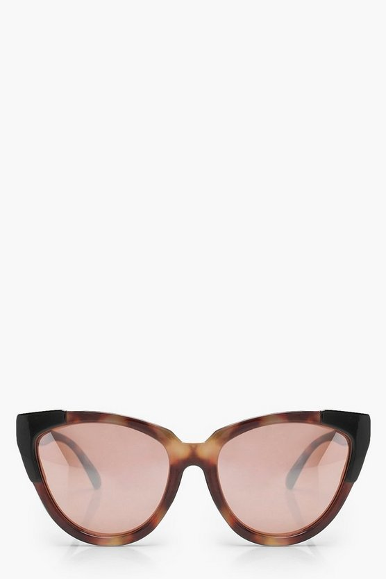 Amy Oversize Tortoiseshell Cat Eye Sunglasses