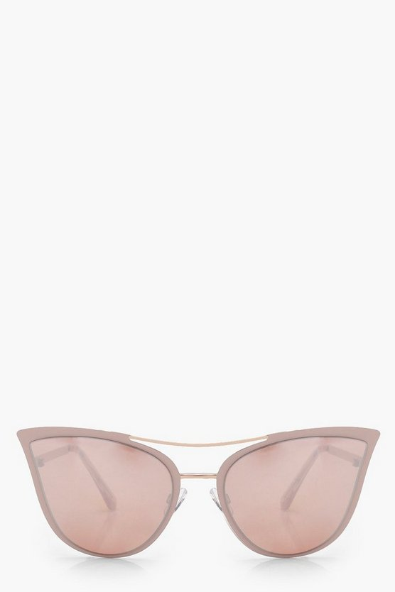 Hope Rose Gold Cat Eye Sunglasses