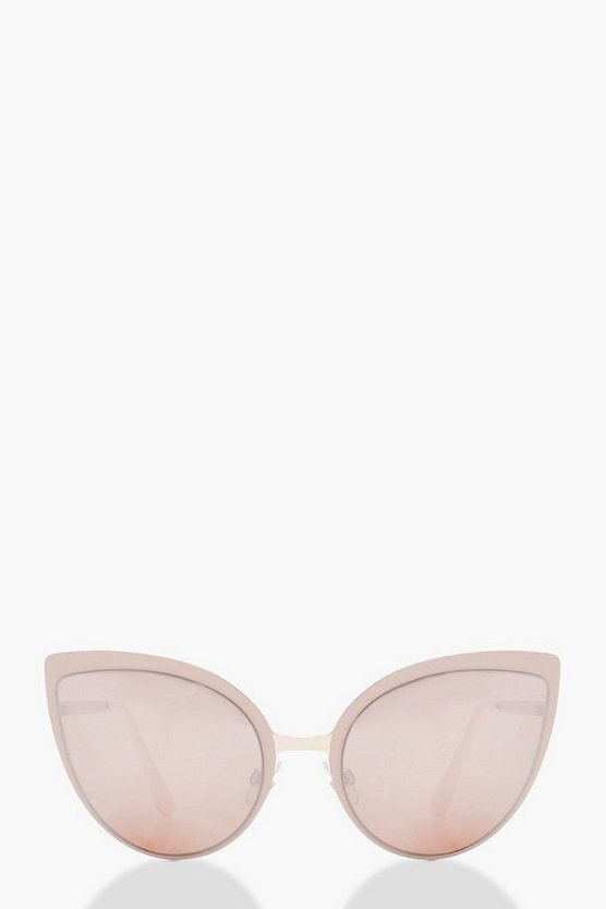 Oversize Cat Eye Pink Lens Sunglasses