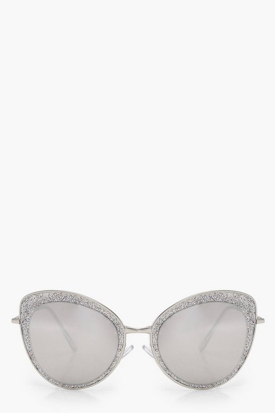 Julie Oversize Glitter Cat Eye Sunglasses