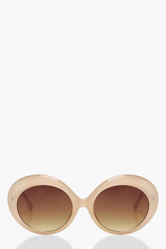 Laura Oval Round Sunglasses