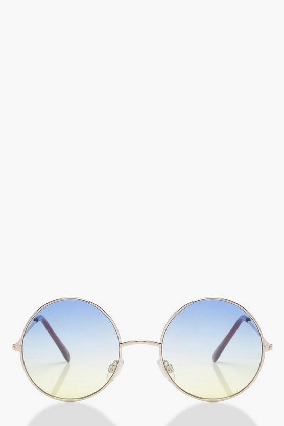 Ombre Lens Round Sunglasses