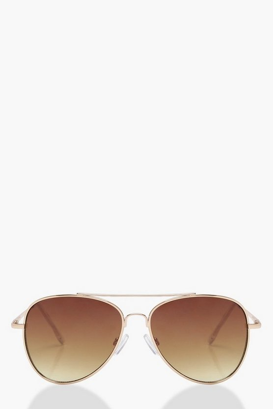 Annabelle Brown Lens Aviator Sunglasses