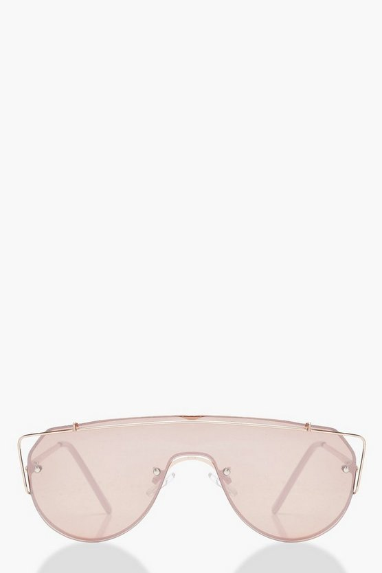 Emma Visor Rose Gold Top Bar Sunglasses