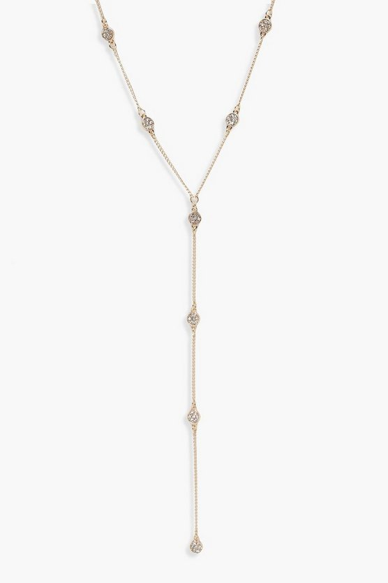 Hannah Filigree Detail Plunge Necklace
