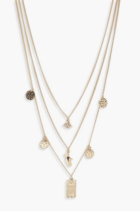 Jodie Trinket & Charm Layered Necklace