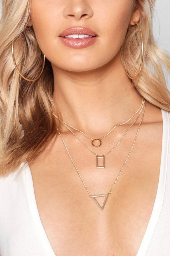 Jenna Geo Shapes Layered Necklaces