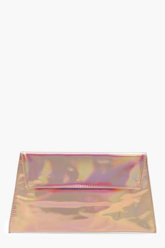 Mirrored Envelope Clutch Bag