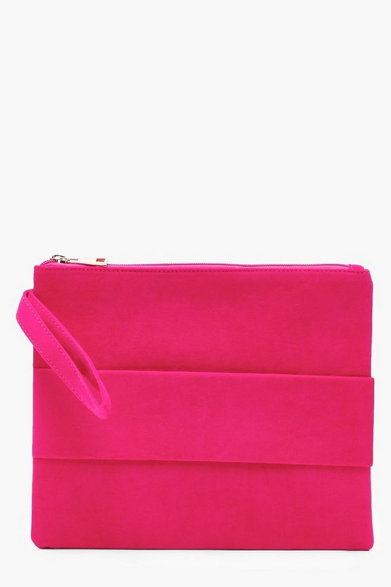 Ria Hand Strap Large Ziptop Clutch
