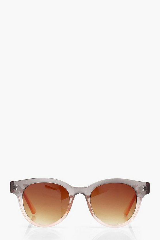 Lisa Ombre Frame Retro Sunglasses