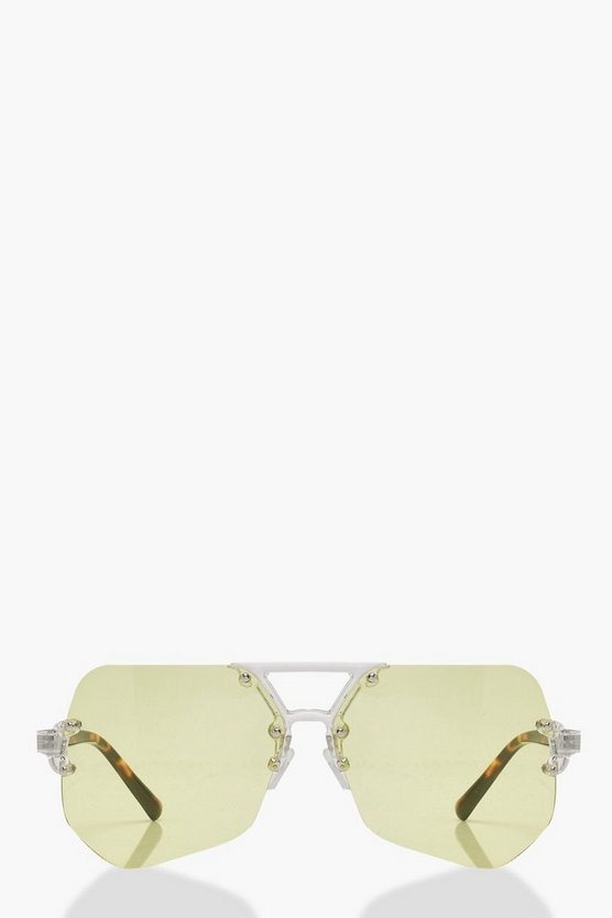 Charley Yellow Lens Aviator Sunglasses