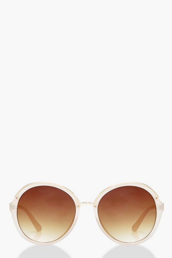 Nude Frame Oval Sunglasses