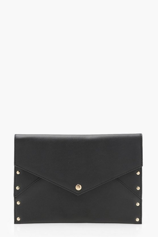 Jessica Popper & Stud Envelope Clutch