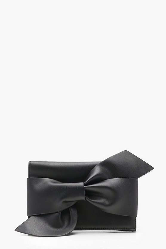 Louise Oversized Bow Clutch With Chain