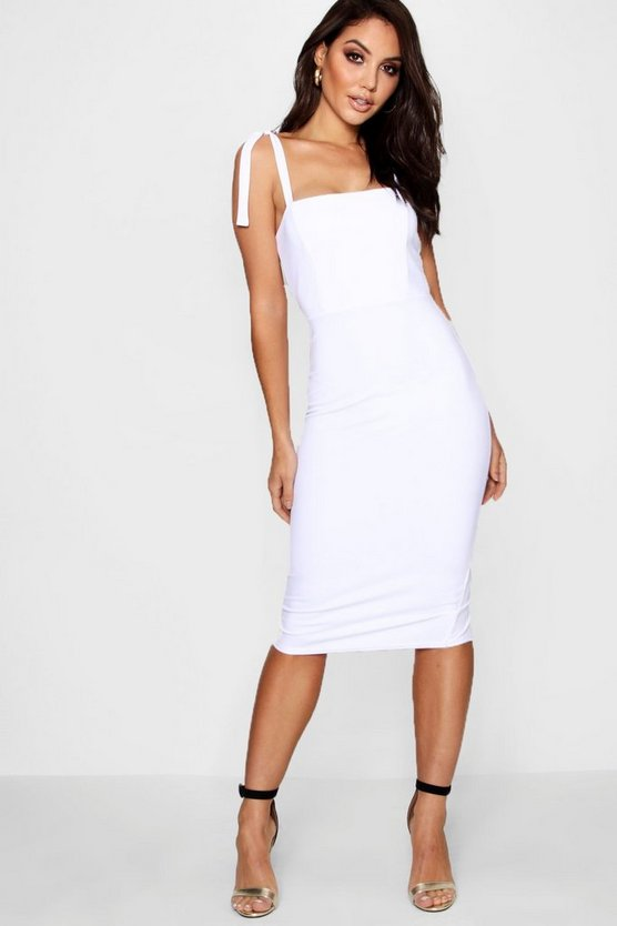 Boutique Stacey Tie Shoulder Midi Dress
